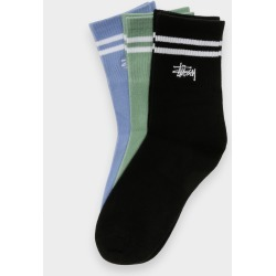 Stussy - Womens Graffiti Crew 3pk Socks in Multi found on MODAPINS from glue store for USD $15.51
