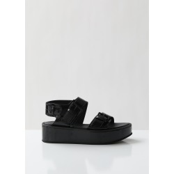 Ann Demeulemeester Patent Vernice Platform Sandals Vernice Nero Size: EU 39 found on MODAPINS from la garconne for USD $875.00