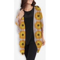 Cocoon Wrap - Yellow Sunflowers Pattern by VIDA Original Artist found on Bargain Bro India from SHOPVIDA for $110.00