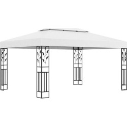 Gazebo With Double Roof 3X4 M