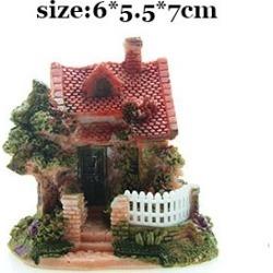 Costbuys  Artificial Mini Micro House Resin Crafts Fairy Garden Decoration Home Garden Decoration Accessories - 04 / 6x5x7cm