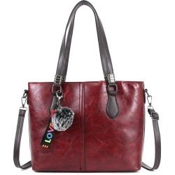 Costbuys  Vintage Women Shoulder Bag Fashion Bags Ladies Luxury Bags Ladies Soft Casual TotesHairball Women Leather Handbags - B