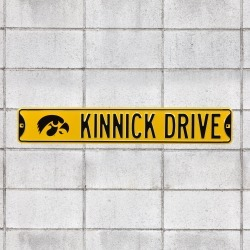 Iowa Hawkeyes: Kinnick Drive - Officially Licensed Metal Street Sign by Fathead | 100% Steel