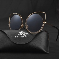 Costbuys  2018 fashion trend Retro Colorful reflective cat sunglasses women Luxury Brand Designer round Flat Mirror vintage glas found on Bargain Bro India from cost buys for $83.93