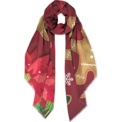 Modal Scarf - Gingerbread Man in Brown/Green/Red by Haris Kavalla Original Artist