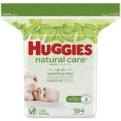Natural Care Baby Wipes Refill Fragrance Free 184 Each by Huggies