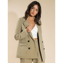 First Muse - Rae Blazer in Khaki found on MODAPINS from glue store for USD $101.05