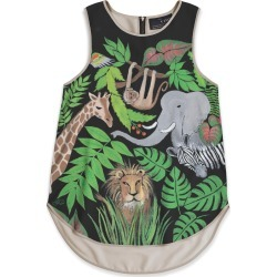 Sleeveless Top - A Frican Jungle in Green by VIDA Original Artist