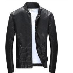 Costbuys  Autumn And Winter Fashion Men's Plus Slim Fit Leather Coats Men Leather Jacket Short Paragraph - 1 / XXXL