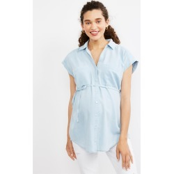 Motherhood Maternity - Flutter Sleeve Maternity Shirt - M found on Bargain Bro India from motherhood for $39.98