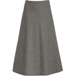 Nili Lotan Women's Alvina A-Line Midi Skirt in Grey size 2 US found on MODAPINS from kirna zabete for USD $595.00