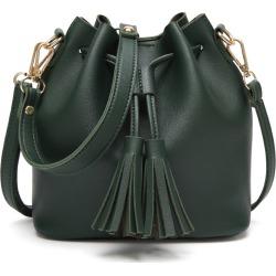 Costbuys  Women's Bag Fringe Small Bags Fashion Handbags Casual Messenger Shoulder Bags - Green / 20cmX11X19cm