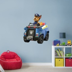 """PAW Patrol: Chase's Police Truck - Officially Licensed Removable Wall Decal Giant Character + 2 Licensed Decals (38""""W x 45""""H) by"""