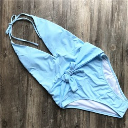 Costbuys  Bandage One Piece Swimsuit Sexy Plus Size Swimwear Low Bust Swimming Suit Women Bathing Suit Beachwear - SBL / XL found on Bargain Bro India from cost buys for $78.66