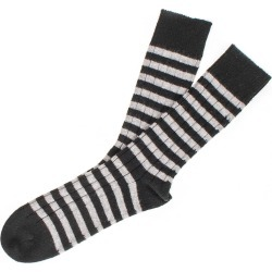 Men's Black and Grey Striped Cashmere Socks found on Bargain Bro UK from black.co.uk