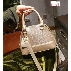 Costbuys  Women Sequins shoulder bag female fashion PU leather handbags women famous brands messenger bag High quality shell cro