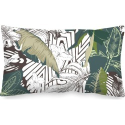 Oblong Pillow - Dark Abstract Jungle by Always Seek Original Artist