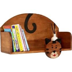 Wooden Wall Mounted Book Shelf Cat