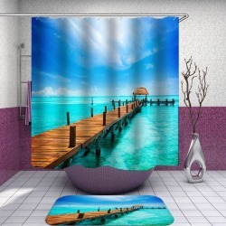 Wooden Wharf in Heaven Shower Curtain found on Bargain Bro from Simply Wholesale for USD $23.61