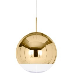 Mirror Ball Pendant 50 - Gold