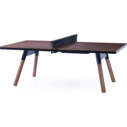 You And Me Ping Pong Table -220 Medium - Walnut / Black