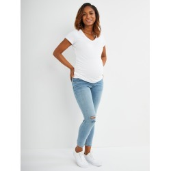 Love Embroidery Secret Fit Belly Skinny Leg Maternity Ankle Pants found on Bargain Bro Philippines from motherhood for $49.98