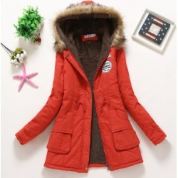 Costbuys  Winter Coat Women New Parka Casual Outwear Military Hooded Thickening Cotton Coat Winter Jacket Fur Coat Women Clothes