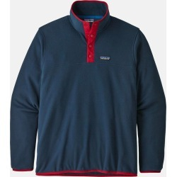 Patagonia Micro D Snap-T Pullover - New Navy w/Classic Red found on Bargain Bro UK from URBANEXCESS.COM