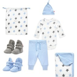 Booties More 6 Piece Baby Gift Set Light Blue