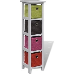 Wood Storage Rack With Multi-Colour Baskets found on Bargain Bro India from Simply Wholesale for $75.21