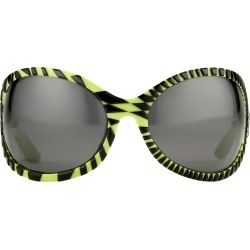 Jeremy Scott Wrap Sunglasses in Black and Green found on MODAPINS from Linda Farrow for USD $314.68