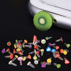 Costbuys  New 10pcs Cute fruit Dustproof Plug Caps Cell Phone Accessories 3.5mm for Huawei iPhone LG Earphone Limited Dust Plug