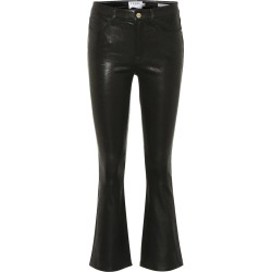 Frame Denim Women's Le Crop Flare Leather Pant in Black size 25 found on MODAPINS from kirna zabete for USD $975.00