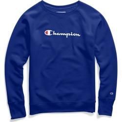 Champion Womens Powerblend� Fleece Boyfriend Crew, Script Logo W2956G Y07418 found on Bargain Bro Philippines from Freshpair for $32.00