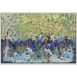 Dance In The Woods Framed Canvas Print