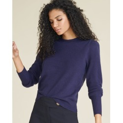 Nelia Crew Neck Cashmere Sweater