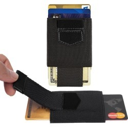 Samsung Galaxy J7 V - Slim Elastic Card Holder Wallet, Black found on Bargain Bro India from cellularoutfitter.com dynamic for $9.99