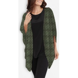 Cocoon Wrap - Camu in Brown/Green/Grey by VIDA Original Artist found on Bargain Bro Philippines from SHOPVIDA for $125.00