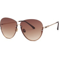 Costbuys  Free freight ladies' sunglasses, punk colors, men's fashion designer glasses DF697 Pilot - C3