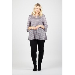 Curve Checked Swing Top found on Bargain Bro UK from Izabel London UK