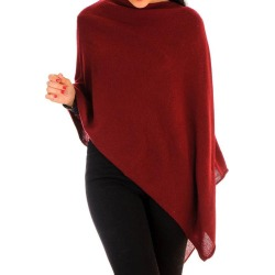 Burgundy Knitted Cashmere Poncho found on Bargain Bro UK from black.co.uk