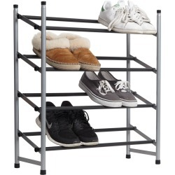 4 Tier Expandable Grip Shoe Rack | Storage