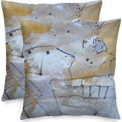Square Pillow Cover - Quiet Feeling in Blue/Brown/Green by VIDA Original Artist found on MODAPINS from SHOPVIDA for USD $45.00