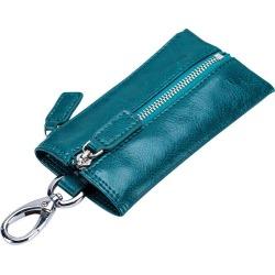 Costbuys  oil wax Genuine Leather Car Key Wallets Women Key Holder Housekeeper Keys Organizer Men Keychain Key Case Bag Coin Pou