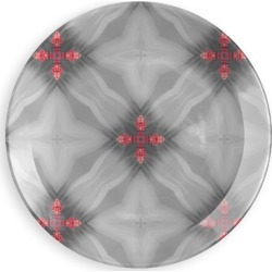 Round Glass Tray - Kettukas #12 in Red by PRIDE Original Artist found on Bargain Bro India from SHOPVIDA for $95.00