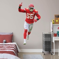 """Frank Clark for Kansas City Chiefs - Officially Licensed NFL Removable Wall Decal Life-Size Athlete + 2 Decals (41""""W x 78""""H) by"""