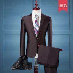 Costbuys  men leisure business suits blazers / man's a grain of buckle suit jackets coat + trousers pants 2 pieces sets - ka fei