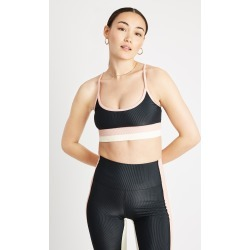 Beach Riot Eva Top in Black/Pink Bandier found on MODAPINS from bandier for USD $85.00