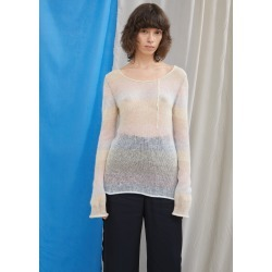 Acne Studios Stripe Mohair Scoop Neck Sweater White / Multi Size: Small found on MODAPINS from la garconne for USD $420.00