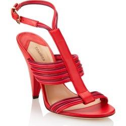 Tamara Mellon Ombre Red Capretto Sandals, Size - 39